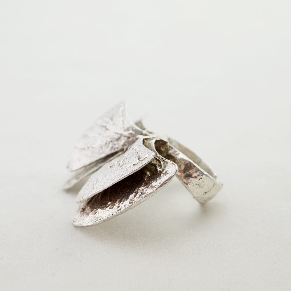 1970s Silver Ring by Theresia Hvorslev for MEMA Sweden - Sold - Hopea