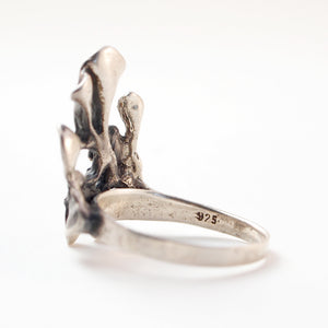 "Hannu Ikonen ""Silver Moss"" Ring - Sold - Hopea"