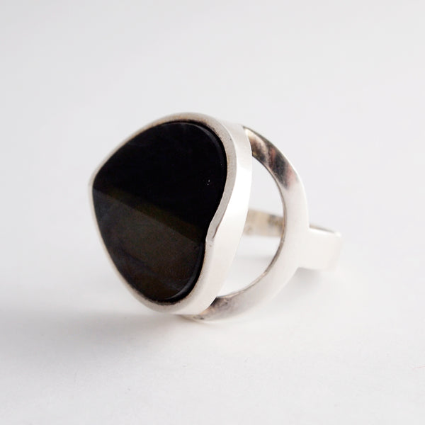 Silver and spectrolite Jorma Laine ring