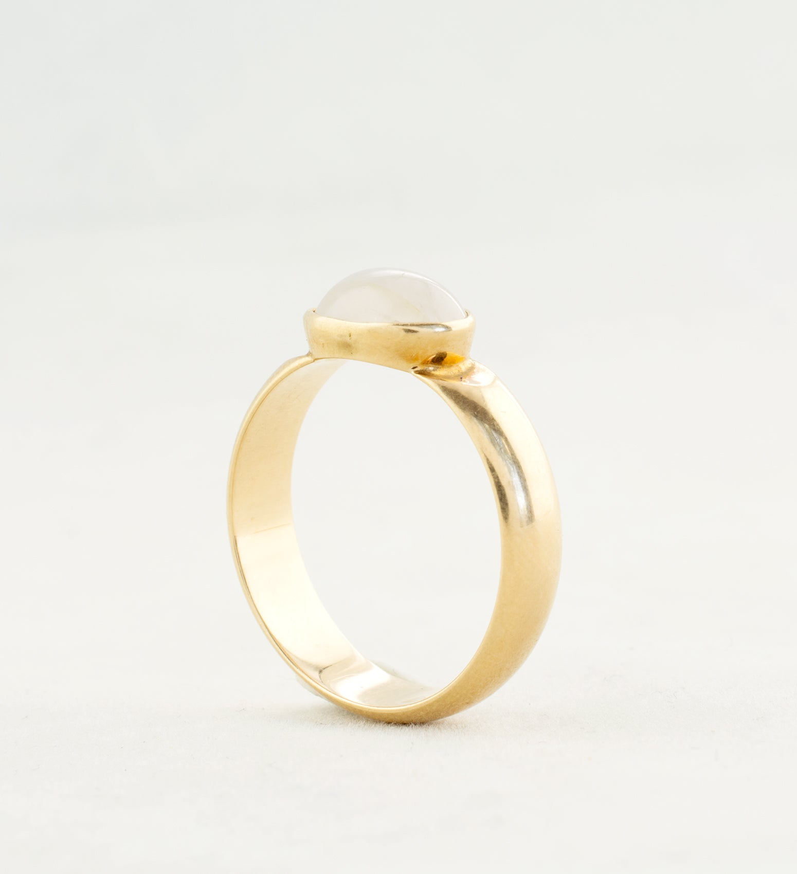 1970s 14k Gold + Rose Quartz by Nil Westerback Ring - Sold - Hopea