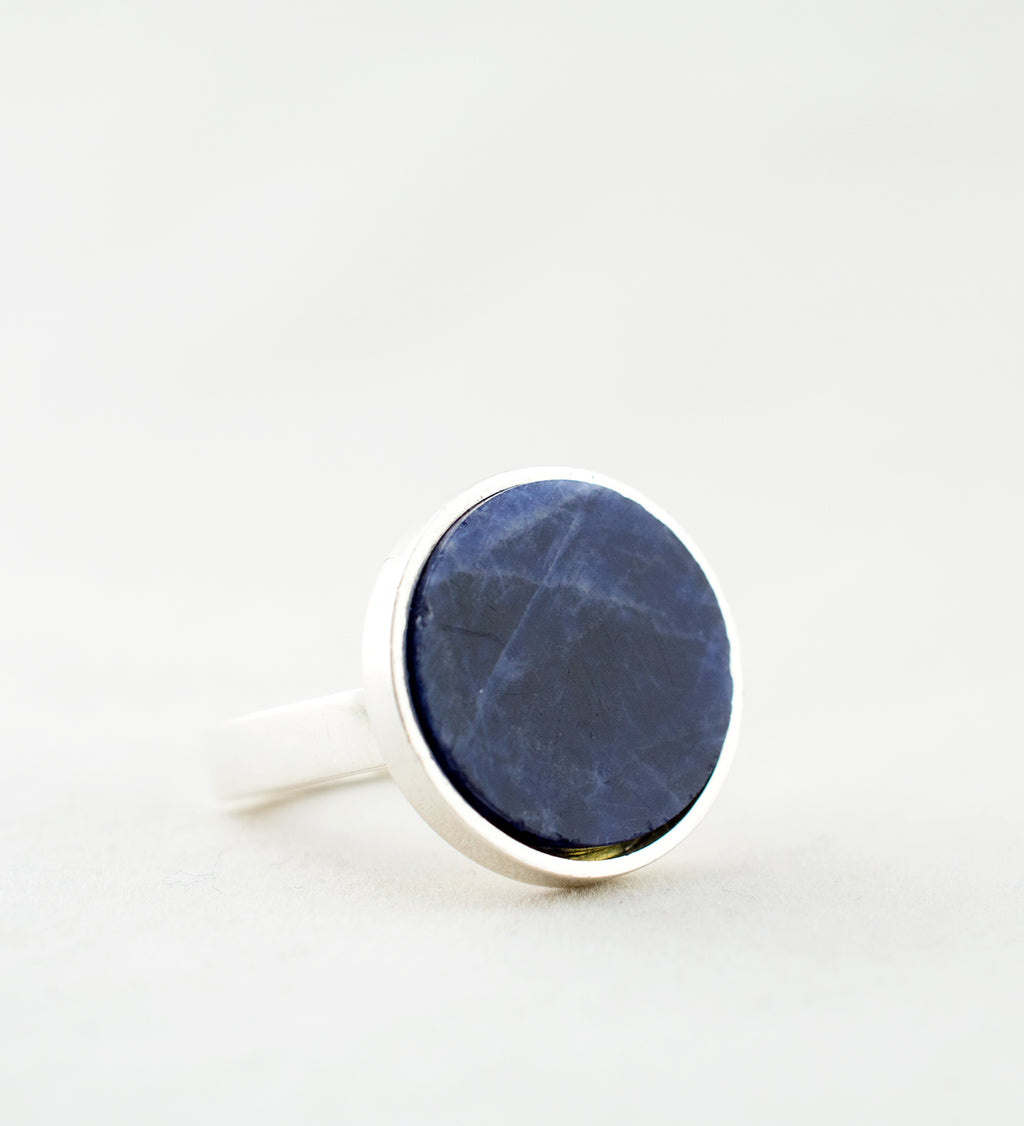 1970s Sterling Silver and Agate Ring by Pekka Piekäinen - Hopea