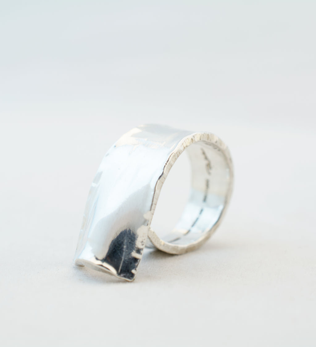 Reserved - 1970s Handmade Rey Urban Sterling Silver Ring - Hopea