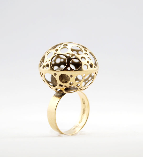 "1960s Liisa Vitali 14k Gold ""Ladybird"" Ring - Sold"