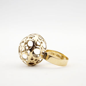 "1960s Liisa Vitali 14k Gold ""Ladybird"" Ring - Sold - Hopea"