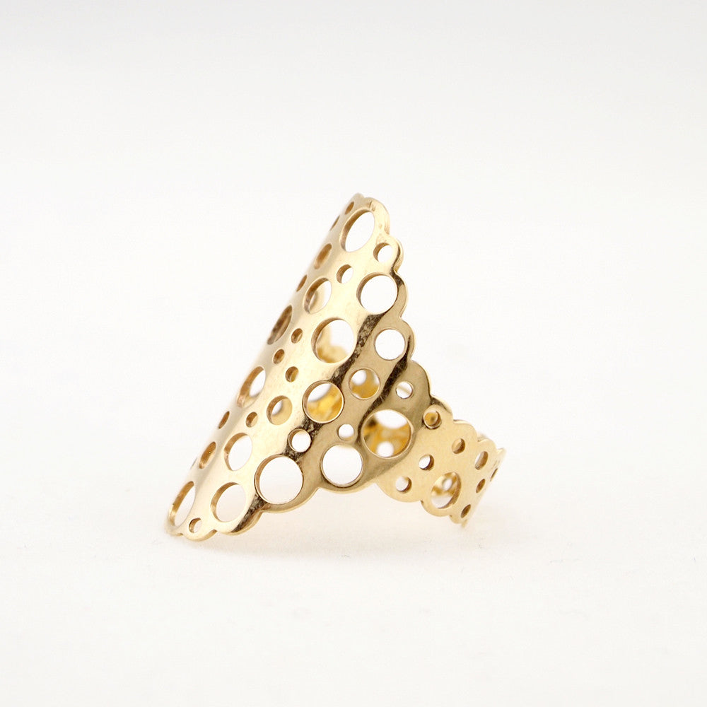 "Liisa Vitali 14k Gold ""Virta"" Ring - Sold - Hopea"