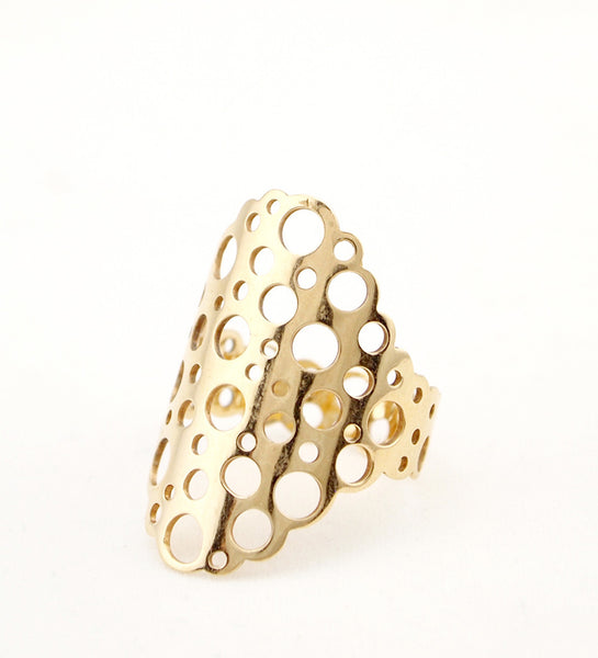 "Liisa Vitali 14k Gold ""Virta"" Ring - Sold"