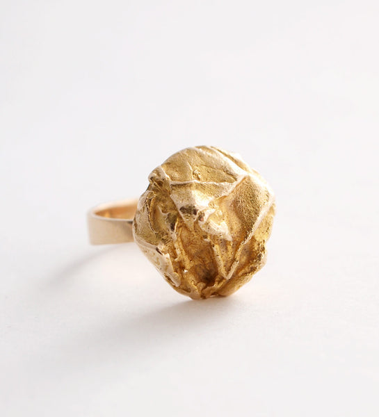 "1970s Lapponia ""Yellow Rose"" Ring by Bjorn Weckstrom - Sold"