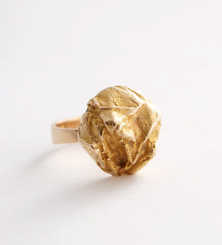 "1970s Lapponia ""Yellow Rose"" Ring by Bjorn Weckstrom"