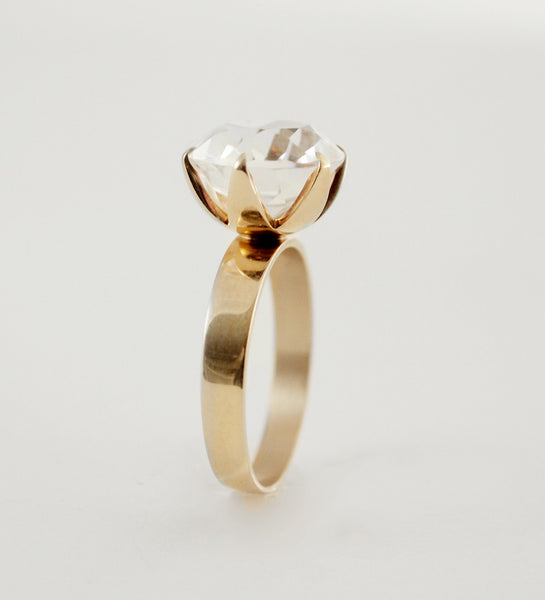 "Nils Westerback 14k Gold ""Timantti"" Ring - Sold"