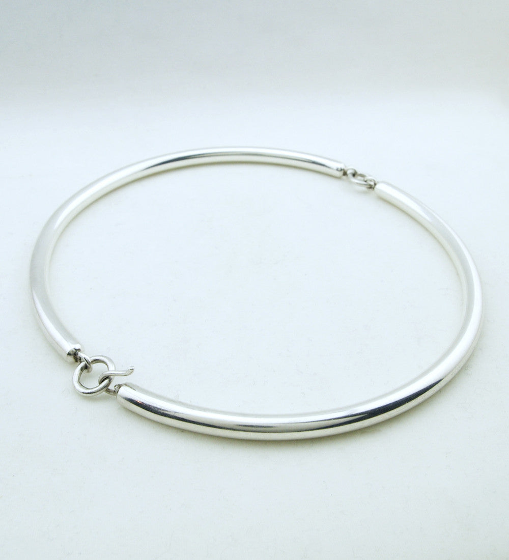 Aarikka Finland Sterling Silver Tube Necklace - Sold - Hopea