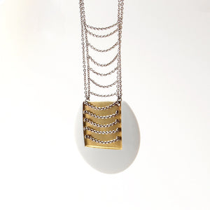 Anton Michelsen Royal Bini Gold + Porcelain Necklace - Sold - Hopea