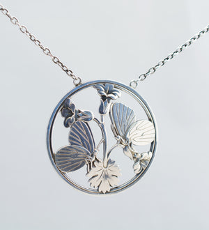 "1940s Arno Mallinowski for Georg Jensen Silver ""Butterflies"" Necklace - Sold - Hopea"