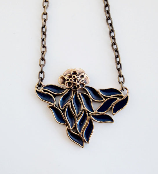 "Hannu Ikonen ""Enamel Flower"" Necklace - Sold"