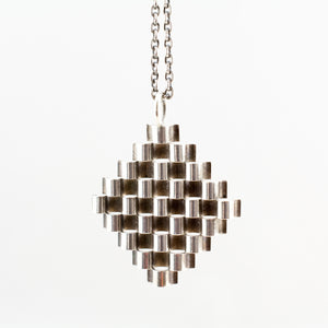 1970s Elis Kauppi Sterling Silver Geometric Necklace - Sold - Hopea