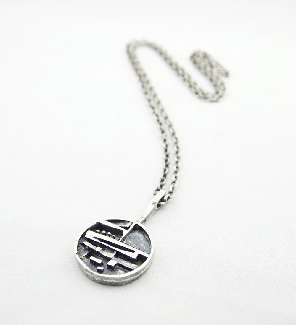 "Jorma Laine ""Silver Ship"" Necklace - Sold - Hopea"