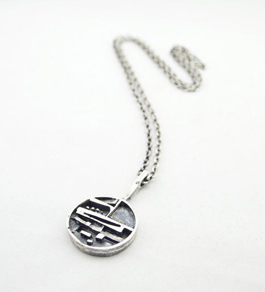 "Jorma Laine ""Silver Ship"" Necklace - Sold"