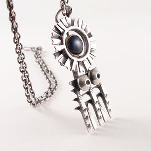 "Pentti Sarpaneva ""Spectrolite"" Necklace - Sold - Hopea"