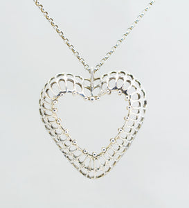 studio else and paul silver heart necklace
