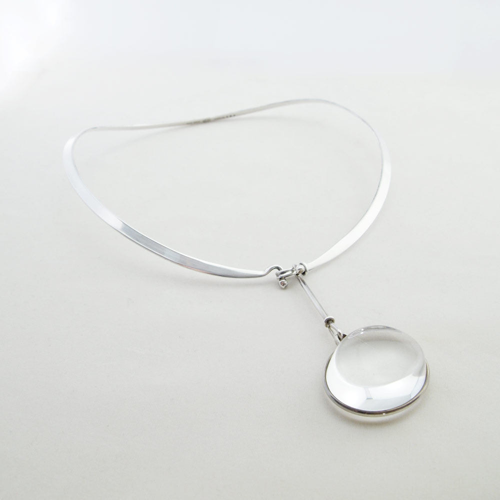 "1960s Torun Bulow-Hube for Georg Jensen ""Dew Drop"" Neck Ring - Sold - Hopea"
