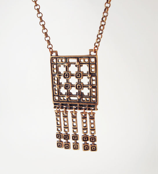 "Unn Tangerud for Uni David-Andersen ""Bronse"" Necklace - Sold"