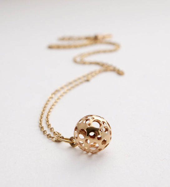 "Liisa Vitali Gold ""Ladybird"" Necklace - Sold"