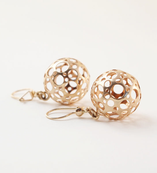 "Liisa Vitali Gold ""Ladybird"" Earrings - Sold"