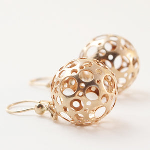 "Liisa Vitali Gold ""Ladybird"" Earrings - Sold - Hopea"
