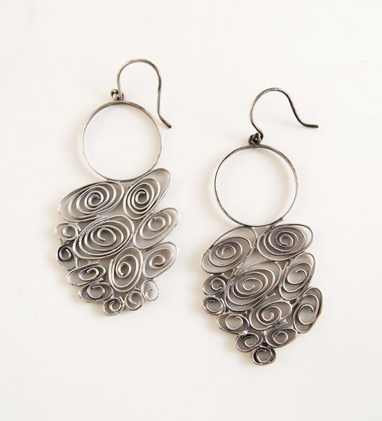 "Liisa Vitali ""Tuiskia"" Earrings - Sold"