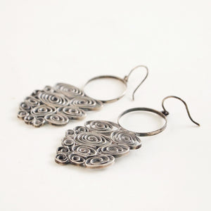 "Liisa Vitali ""Tuiskia"" Earrings - Sold - Hopea"