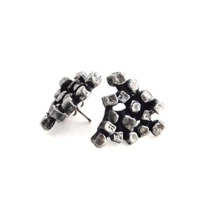 "Guy Vidal ""Cluster"" Earrings - Sold - Hopea"