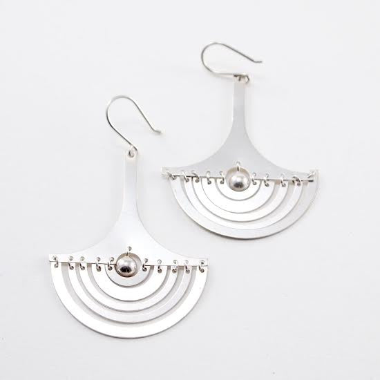 "Tapio Wirkkala ""Crescent Moon"" Earrings - Sold - Hopea"