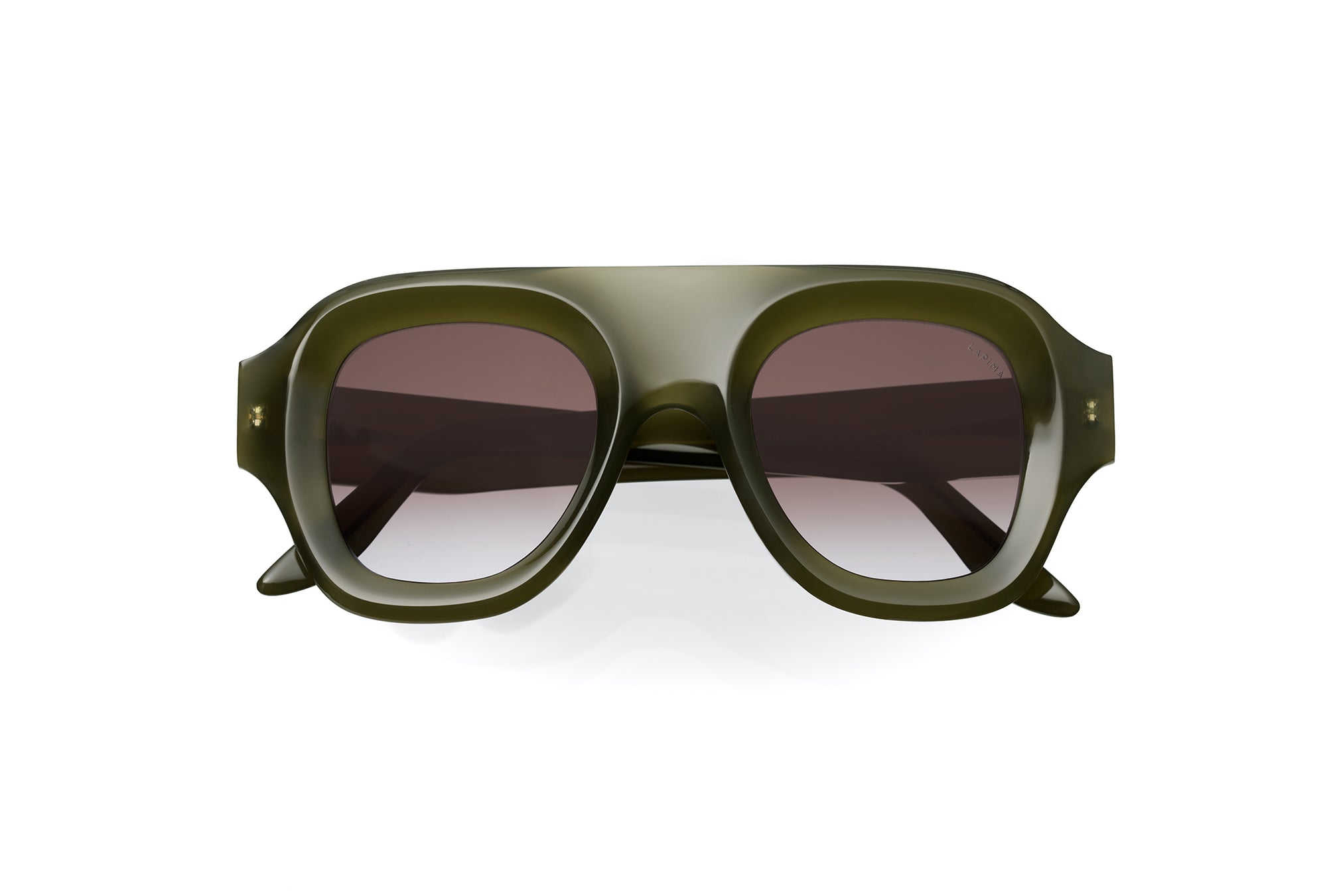 OLIVA GRADIENT - GREEN OLIVA ACETATE | BROWN GRADIENT LENSES