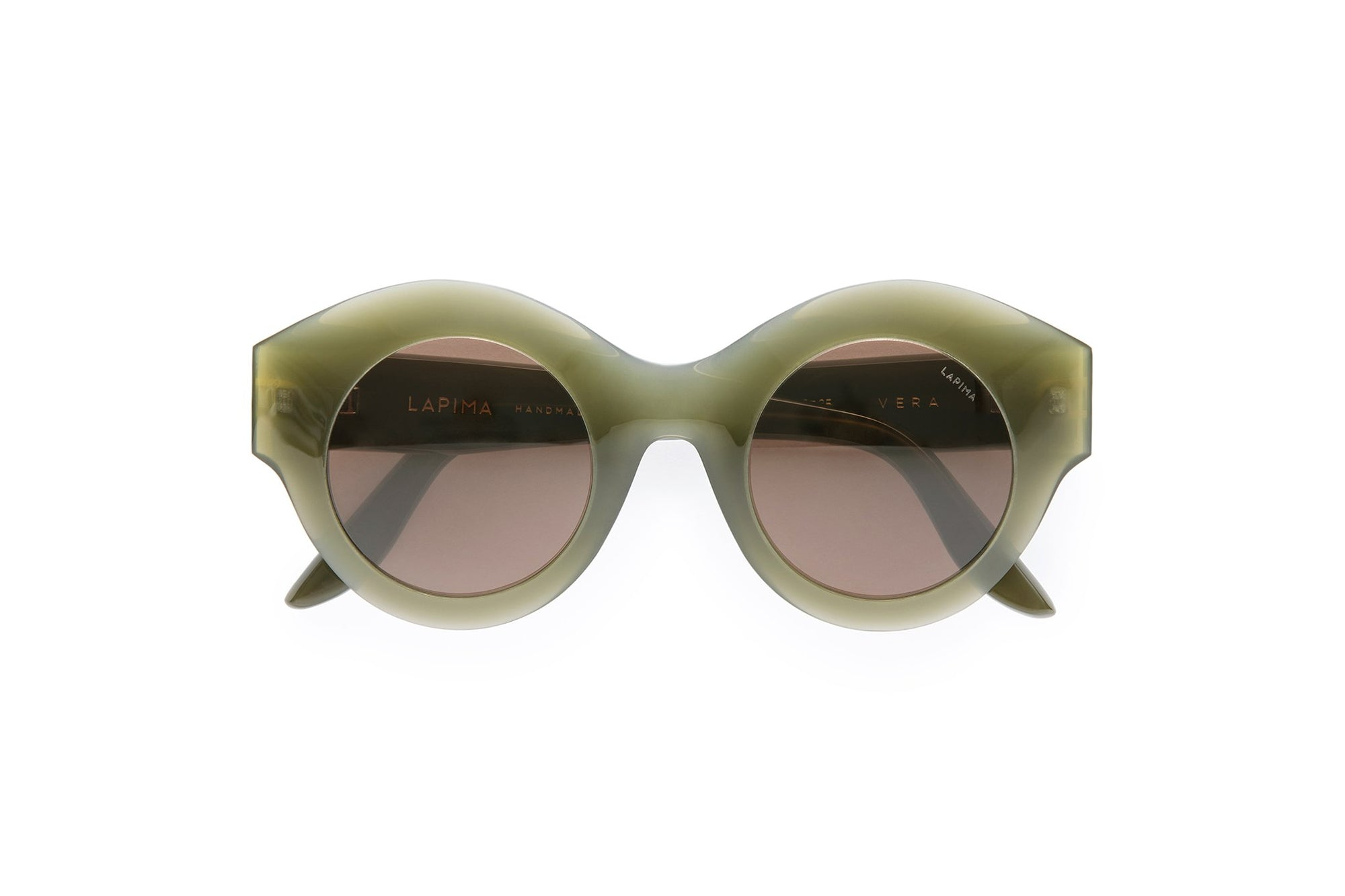 OLIVA SOLID - GREEN OLIVA ACETATE | SOLID BROWN LENSES