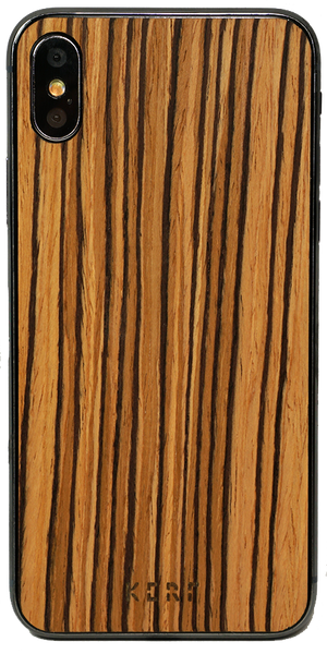 zebrawood wood iphone xs skin