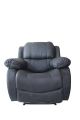 Black Leather Recliner Single Seater - 100decor