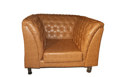 Brown Leather Single Seat - 100decor