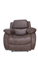 Dark Brown Leather Recliner Single Seater - 100decor