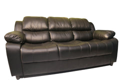 Cushion Black Sofa 3Seater - 100decor