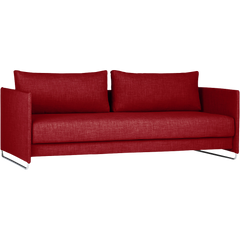 Tandom Red Sleeper Sofa - 100decor