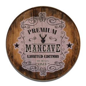 Mancave Reclaimed Barrel Head