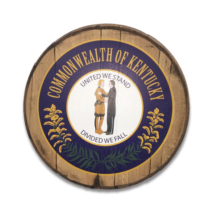 The Commonwealth of Kentucky Reclaimed Barrel Head