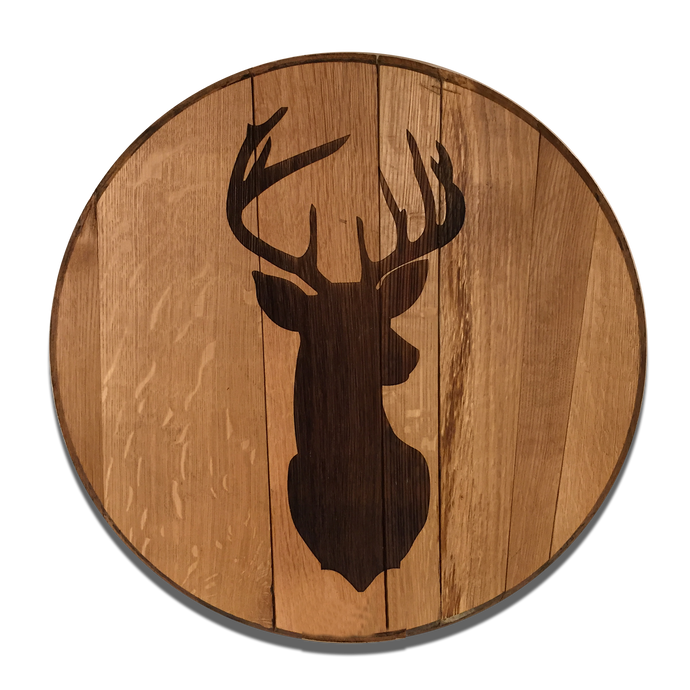 Deer Head Reclaimed Barrel Head