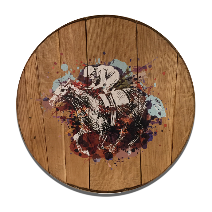 Derby Horse Reclaimed Barrel Head