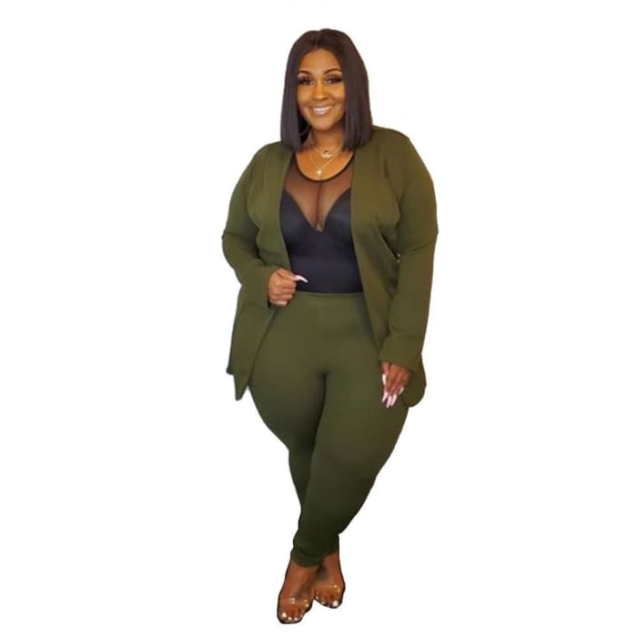 Boss Talk - army 2 piece set / 4XL / United States - suit