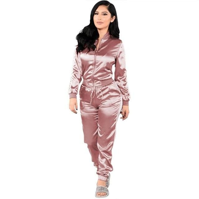 Jackd Up - pink tracksuit / L / United States - matching set