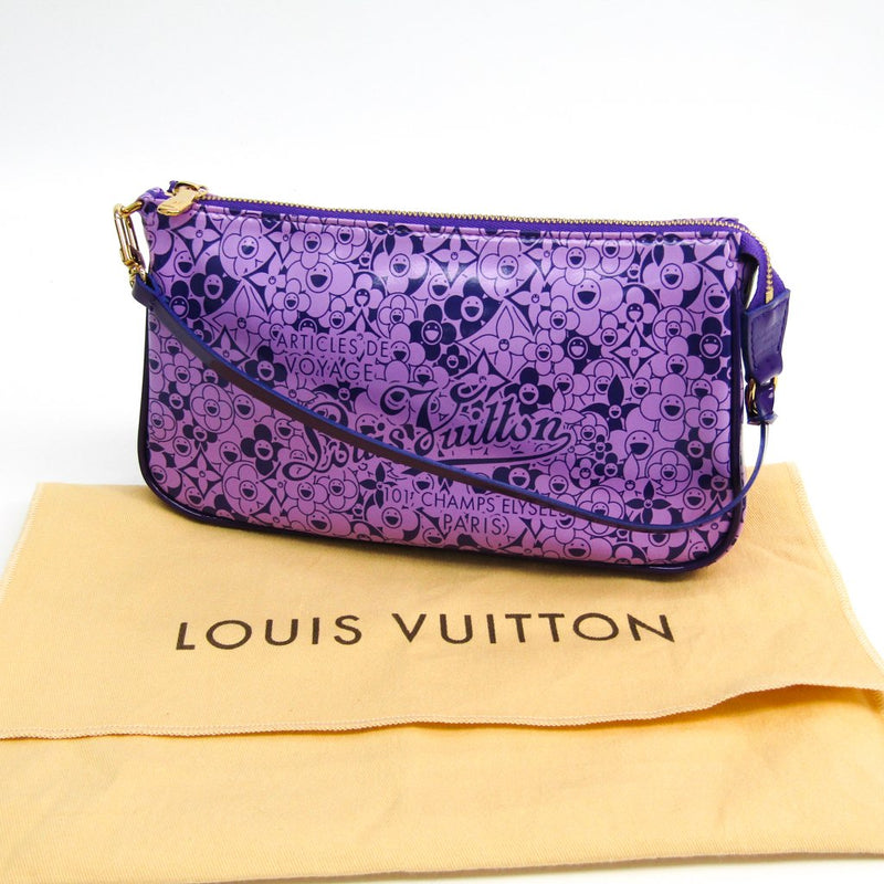 Buy & Consign Authentic Louis Vuitton Violet Shiny Leather Limited Edition Cosmic Blossom Pochette Accessoires Bag at The Plush Posh