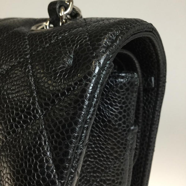 Buy & Consign Authentic Chanel Caviar Skin Mattrase Double flap Chain Shoulder Bag at The Plush Posh