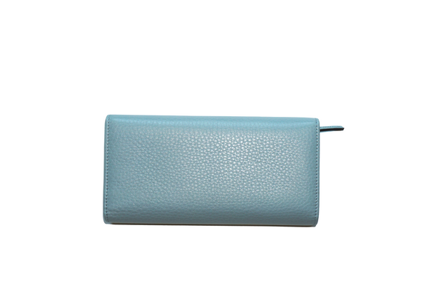 Gucci Pebbled Calfskin Wallet Light Blue