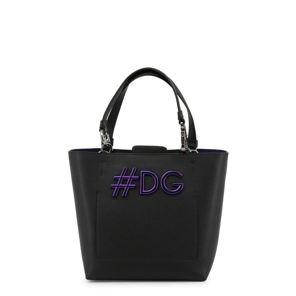 Buy & Consign Authentic Dolce & Gabbana Textured Calfskin Miss Escape Tote Black at The Plush Posh