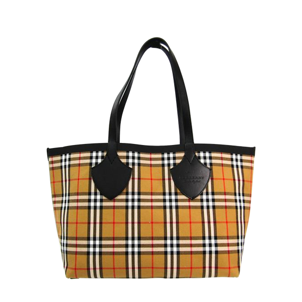 Buy & Consign Authentic Burberry The Giant Reversible Vintage Check Tote In Beige Red at The Plush Posh